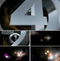 LOGO穿梭宇宙太空星星粒子隧道倒数开场片头