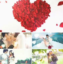 premiere浪漫婚礼电子相册模板